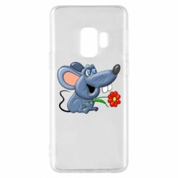 Чехол для Samsung S9 Mouse with a flower
