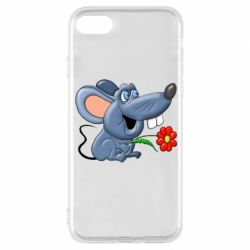 Чехол для iPhone 8 Mouse with a flower
