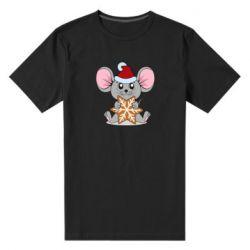 Мужская стрейчевая футболка Mouse with cookies