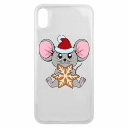 Чехол для iPhone Xs Max Mouse with cookies