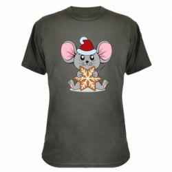Камуфляжная футболка Mouse with cookies