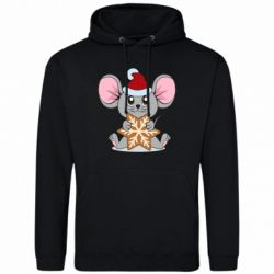 Мужская толстовка Mouse with cookies