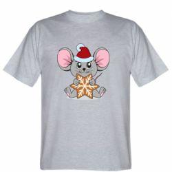 Мужская футболка Mouse with cookies