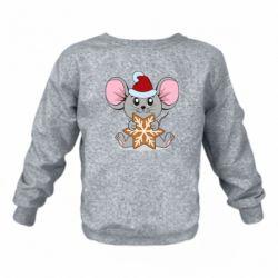 Детский реглан (свитшот) Mouse with cookies
