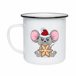 Кружка эмалированная Mouse with cookies