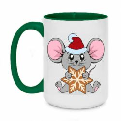 Кружка двухцветная 420ml Mouse with cookies
