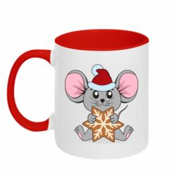 Кружка двухцветная 320ml Mouse with cookies
