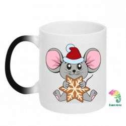 Кружка-хамелеон Mouse with cookies