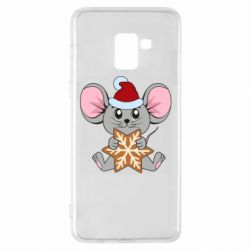 Чехол для Samsung A8+ 2018 Mouse with cookies