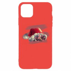 Чехол для iPhone 11 Pro Mouses and christmas hat