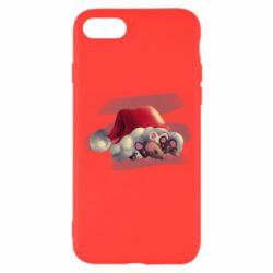 Чехол для iPhone 7 Mouses and christmas hat