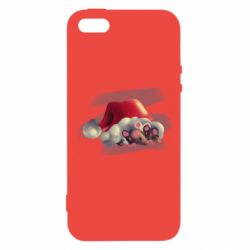 Чехол для iPhone5/5S/SE Mouses and christmas hat
