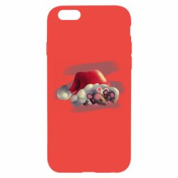 Чехол для iPhone 6/6S Mouses and christmas hat