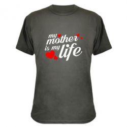 Камуфляжна футболка Моя мати -  моє життя