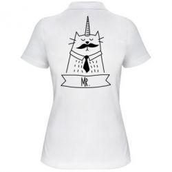 Женская футболка поло Mr. Cat