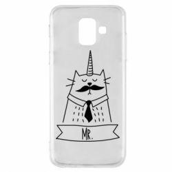 Купить Парные для влюбленных, Чехол для Samsung A6 2018 Mr. Cat, FatLine