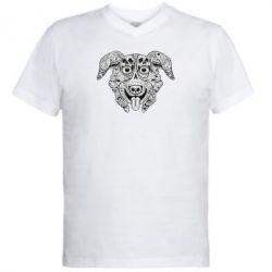 Мужская футболка  с V-образным вырезом Mr. Pickles Art - FatLine