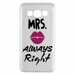 Чохол для Samsung A3 2015 Mrs. always right