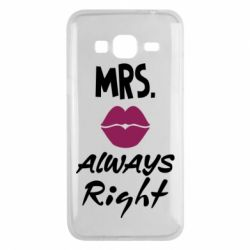 Чохол для Samsung J3 2016 Mrs. always right