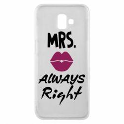 Чохол для Samsung J6 Plus 2018 Mrs. always right