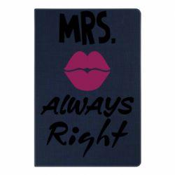Блокнот А5 Mrs. always right