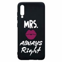 Чохол для Samsung A70 Mrs. always right