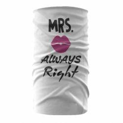 Бандана-труба Mrs. always right