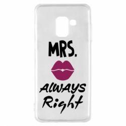 Чохол для Samsung A8 2018 Mrs. always right