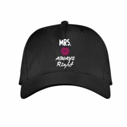 Детская кепка Mrs. always right