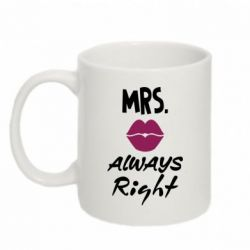 Кружка 320ml Mrs. always right