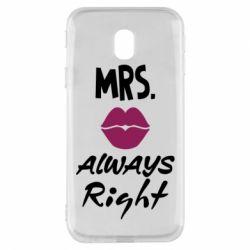 Чохол для Samsung J3 2017 Mrs. always right