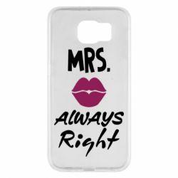Чохол для Samsung S6 Mrs. always right