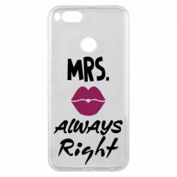 Чохол для Xiaomi Mi A1 Mrs. always right
