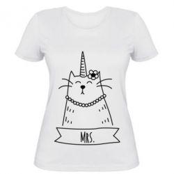 Женская футболка Mrs. Cat