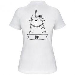 Женская футболка поло Mrs. Cat