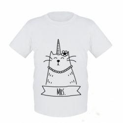 Детская футболка Mrs. Cat