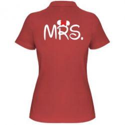 Женская футболка поло Mrs.