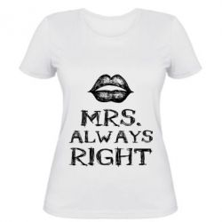 Женская футболка Mrs