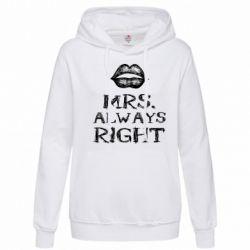 Женская толстовка Mrs