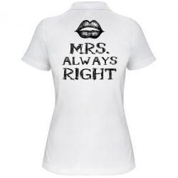 Женская футболка поло Mrs