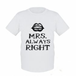Дитяча футболка Mrs