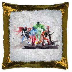 Подушка-хамелеон Мстители Арт