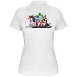 Женская футболка поло Мстители Арт - FatLine
