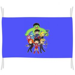Флаг Мститети в сборе