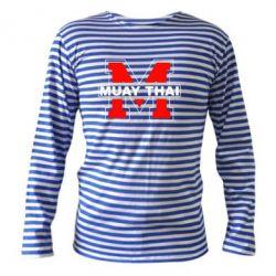 Тельняшка с длинным рукавом Muay Thai Big M - FatLine