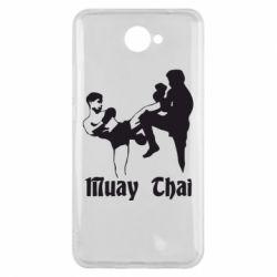 Чехол для Huawei Y7 2017 Muay Thai Fighters - FatLine