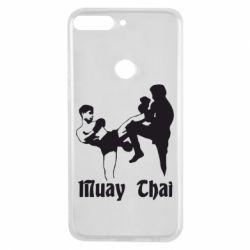Чехол для Huawei Y7 Prime 2018 Muay Thai Fighters - FatLine