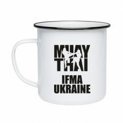 Кружка эмалированная Muay Thai IFMA Ukraine