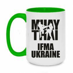 Кружка двухцветная 420ml Muay Thai IFMA Ukraine