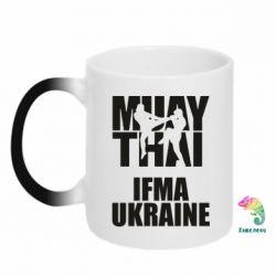 Кружка-хамелеон Muay Thai IFMA Ukraine
